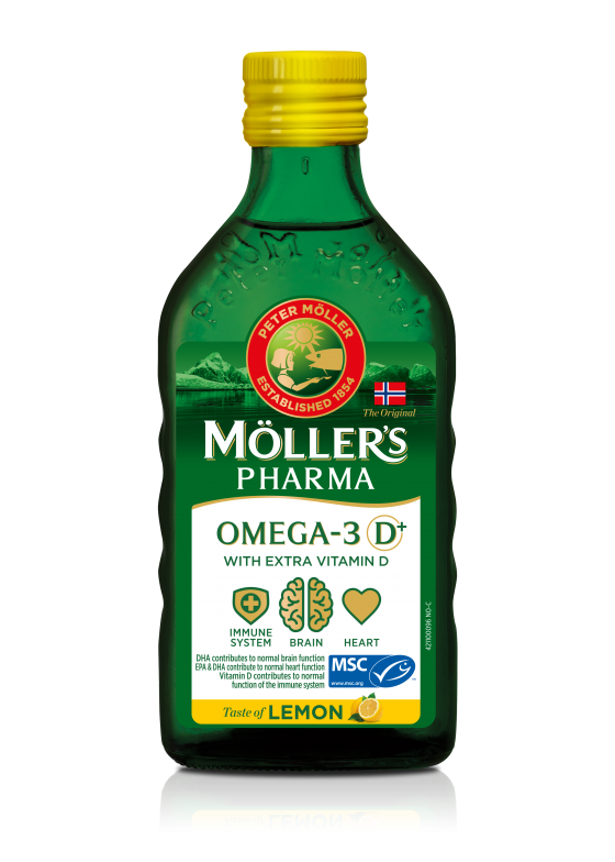 möller's pharma cod liver oil d+ lemon