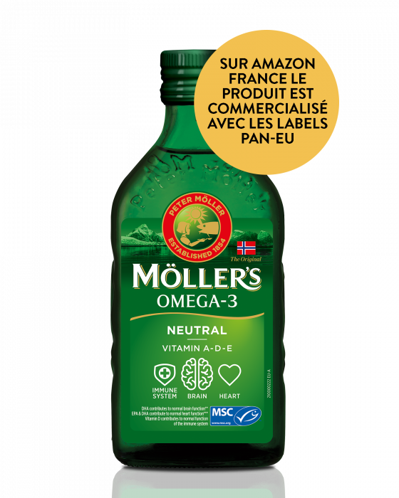 Neutral Möller's sans arome, cod liver oil